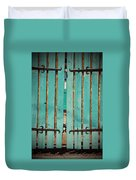 The Turquoise Gate Duvet Cover