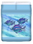 The Turquoise Rainbow Fish Duvet Cover