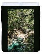 The Turquoise Waters Of The Forest River No2 Duvet Cover