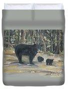Cubs - Bears - Goldilocks And The Three Bears Duvet Cover