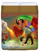 The Two Beasts Of Revelations Duvet Cover