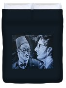The Two Doctors Duvet Cover