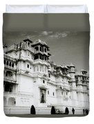 The Udaipur City Palace  Duvet Cover