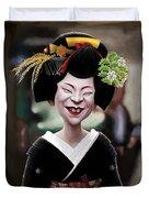 The Ugly Geisha Duvet Cover