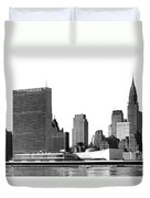 The Un And Chrysler Buildings Duvet Cover