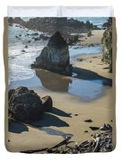 The Unexplored Beach Duvet Cover