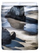 The Unexplored Beach Painted Duvet Cover
