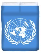 The United Nations Flag  Authentic Version Duvet Cover