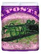 The Upside Down Biplane Stamp - 20130119 - V2 Duvet Cover