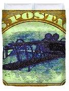 The Upside Down Biplane Stamp - 20130119 - V3 Duvet Cover