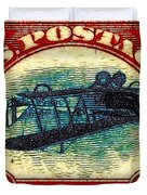 The Upside Down Biplane Stamp - 20130119 Duvet Cover