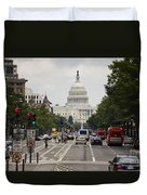 The Us Capitol Building From Pennsylvania Avenue Duvet Cover