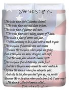 The U.s.a. Flag Poetry Art Poster Duvet Cover by Stanley Mathis