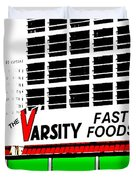 The Varsity Atlanta Pop Art Duvet Cover