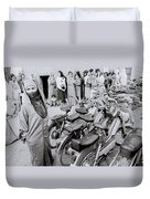 Woman In The Souk Duvet Cover