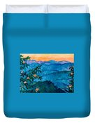 The Very Blue Ridge Duvet Cover