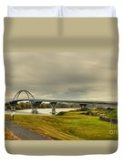 The View From Crown Point New York Duvet Cover