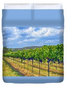 The Vineyard In Color Duvet Cover