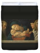 The Virgin And Child With Four Saints Duvet Cover