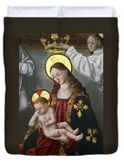The Virgin And The Child With The Parrot Duvet Cover