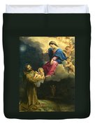 The Vision Of Saint Francis  Duvet Cover by Carracci Ludovico