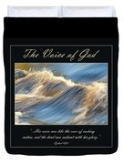 The Voice Of God Duvet Cover