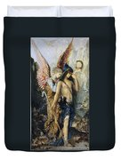 The Voices. Hesiod And The Muse Duvet Cover