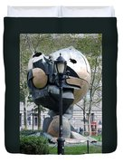 The W T C Plaza Fountain Sphere Duvet Cover