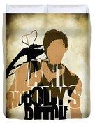 The Walking Dead Inspired Daryl Dixon Typographic Artwork Duvet Cover by Ayse Deniz