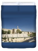 The Walls Of Jerusalem Old Town Israel Duvet Cover