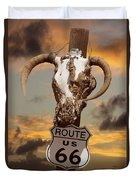 The Warmth Of Route 66 Duvet Cover
