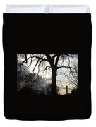 The Washington Monument Lost In The Trees Duvet Cover
