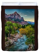 The Watchman At Sunrise Duvet Cover