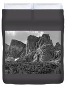 209619-bw-the Watchtower, Wind Rivers Duvet Cover