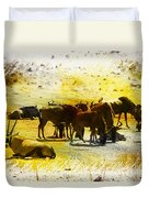 The Waterhole  Duvet Cover