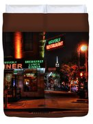 The Waverly Diner And Empire State Building Duvet Cover
