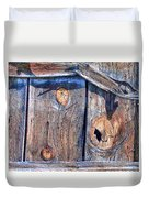 The Weathered Abstract From A Barn Door Duvet Cover