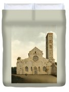 The West Facade Of The Church Of Saint Mary In Utrecht Duvet Cover