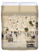 The Western Wall In Jerusalem Israel Duvet Cover