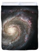 The Whirlpool Galaxy M51 And Companion Duvet Cover by Adam Romanowicz