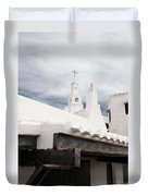 Binibeca Vell In Menorca Is A Small Fishermen Villa With The Taste Of Past Times - The White Chapel Duvet Cover