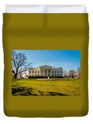 The White House In Washington Dc With Beautiful Blue Sky Duvet Cover