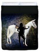 The White Mule Duvet Cover