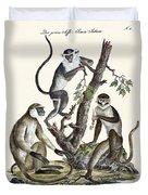 The White-nosed Monkey Duvet Cover