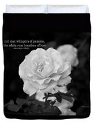 The White Rose Breathes Of Love Duvet Cover