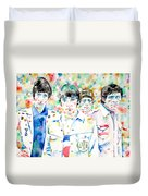 The Who - Watercolor Portrait Duvet Cover