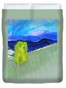 The Willow On The Hill #2 Duvet Cover