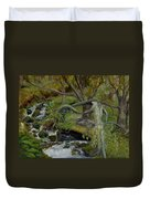 The Willow Woman Washing Her Hair Duvet Cover