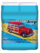 The Willys - Overland Jeep Station Wagon Duvet Cover