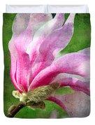The Windblown Pink Magnolia - Flora - Tree - Spring - Garden Duvet Cover